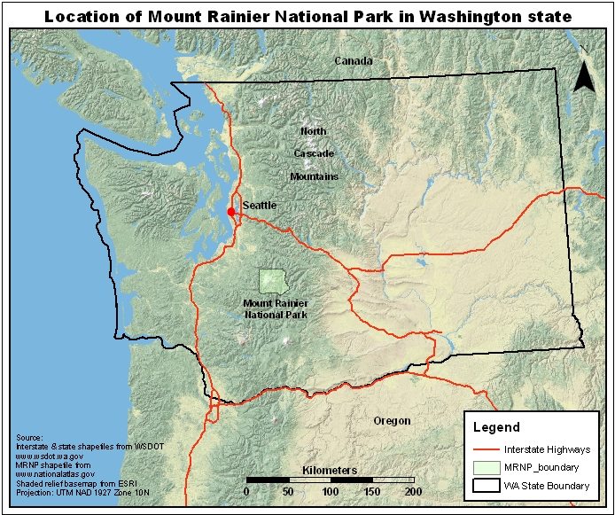 NR About Us - Mt rainier on us map